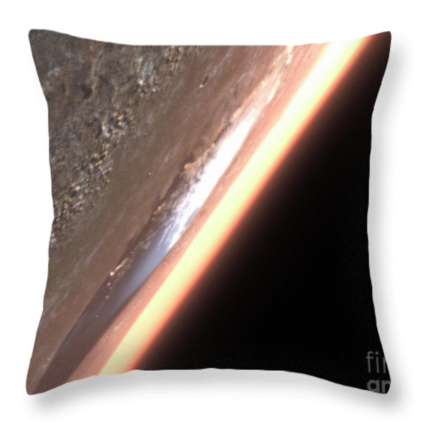 Terragen Render Of Olympus Mons On Mars Throw Pillow by Rhys Taylor