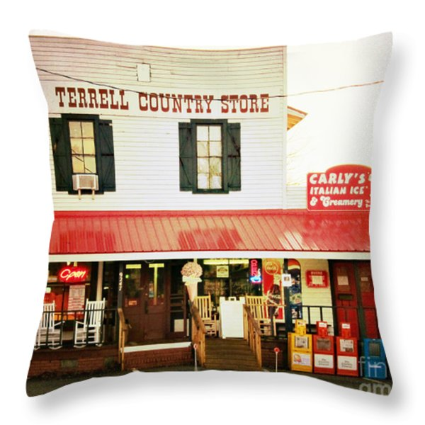 Terrell North Carolina Throw Pillow by Kim Fearheiley