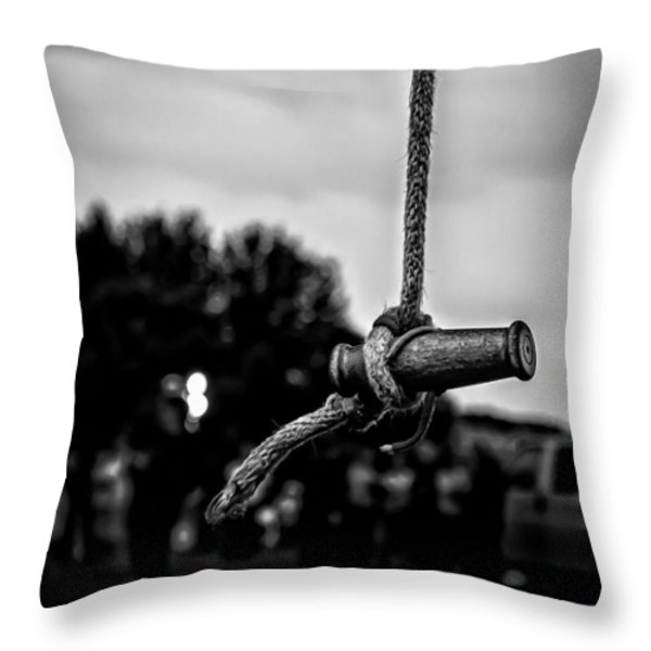 Tether Before Sunrise Throw Pillow by Bob Orsillo