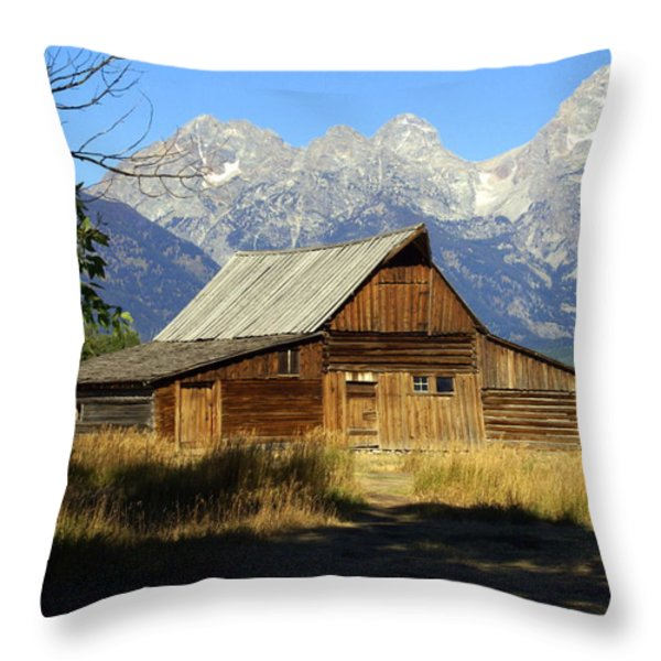 Teton Barn 4 Throw Pillow by Marty Koch