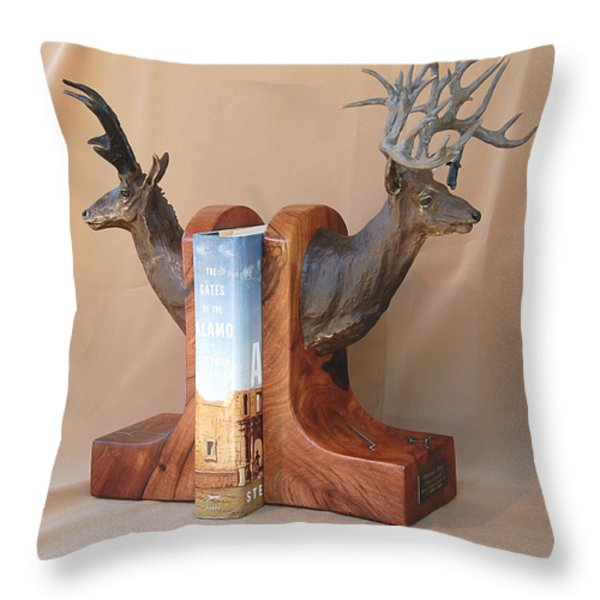 Texas Trophies Throw Pillow by J P Childress