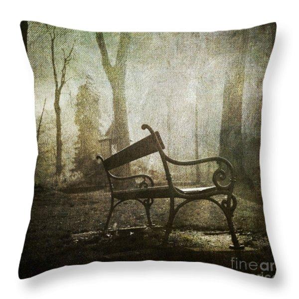 Textured bench Throw Pillow by BERNARD JAUBERT