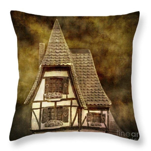 Textured House Throw Pillow by Bernard Jaubert