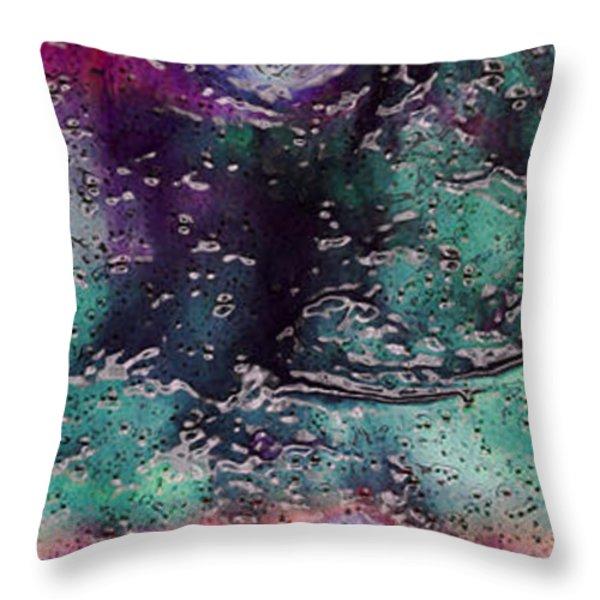 Textures Of The Heart Throw Pillow by Linda Sannuti
