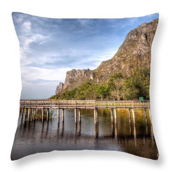 Thai Park Throw Pillow by Adrian Evans