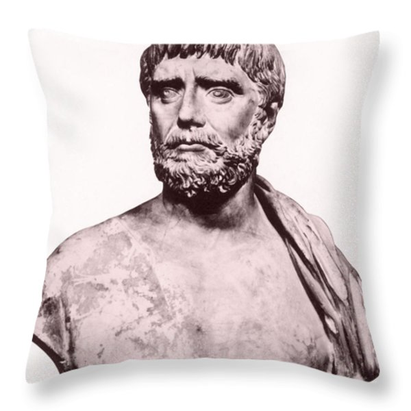 Thales, Ancient Greek Philosopher Throw Pillow by Photo Researchers