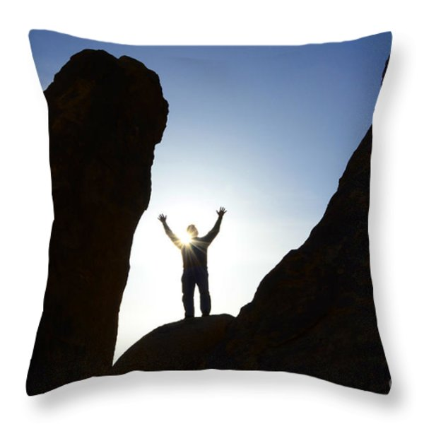 Thanks For Today Hope For Tomorrow Throw Pillow by Bob Christopher