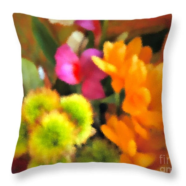 That Fall Feeling Throw Pillow by Gwyn Newcombe
