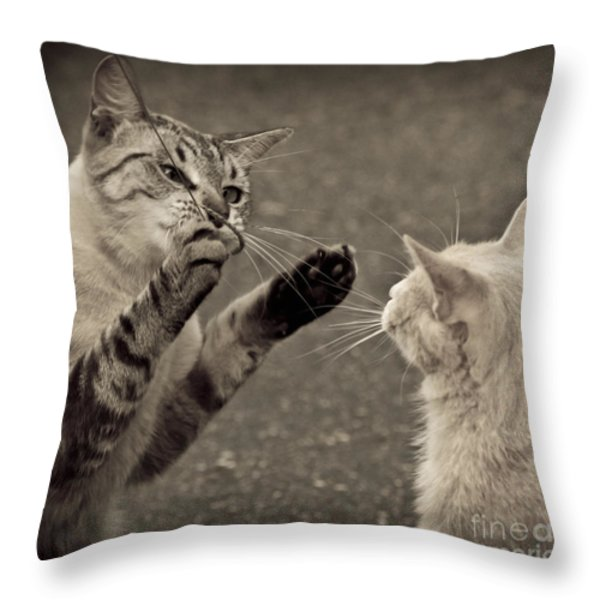That Mouse Was This Big Throw Pillow by Kim Henderson