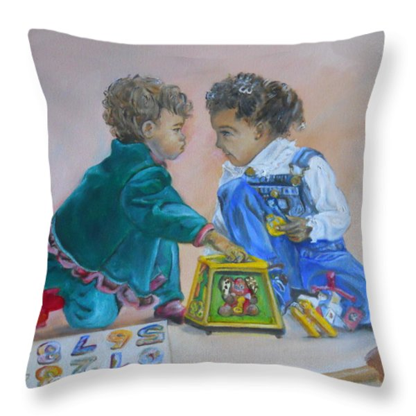 That's Mine Throw Pillow by Joyce Reid