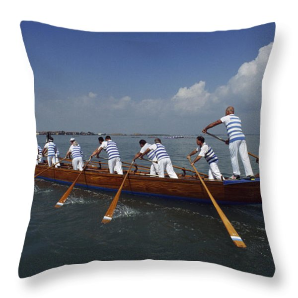 The 20th Annual  94 Vogalonga - A 32km Throw Pillow by Sam Abell