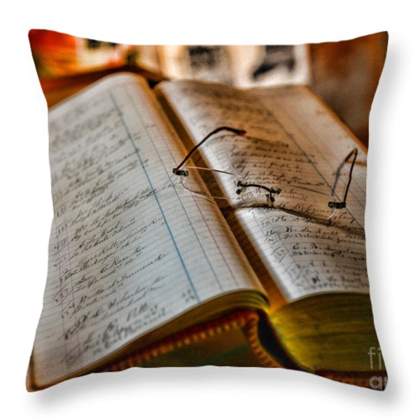 The Accountant's Ledger Throw Pillow by Paul Ward