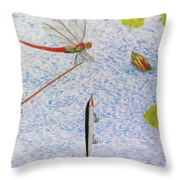 The Allure Of The Rod Throw Pillow by Gerald Strine