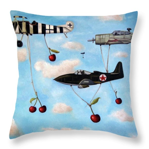The Amazing Race 5 Throw Pillow by Leah Saulnier The Painting Maniac