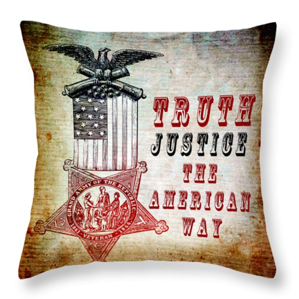 The American Way Throw Pillow by Angelina Vick