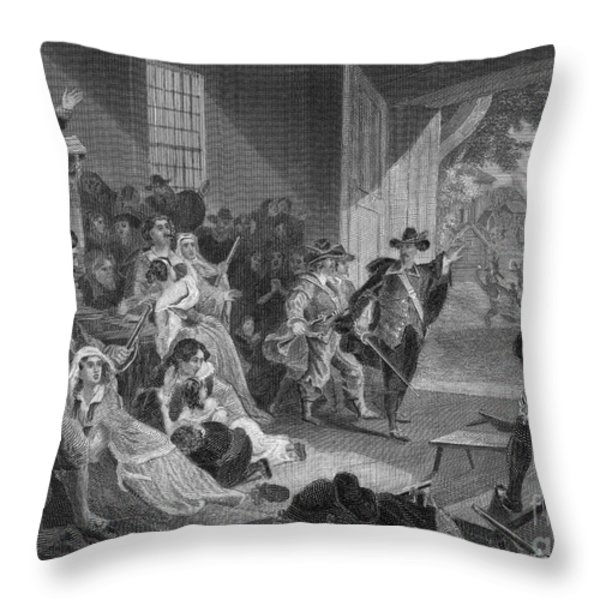 The Angel Of Hadley, 1675 Throw Pillow by Photo Researchers