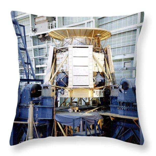 The Apollo Telescope Mount Undergoing Throw Pillow by Stocktrek Images