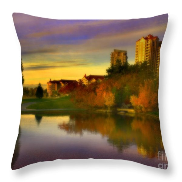 The Arrival Of Autumn Throw Pillow by Tara Turner