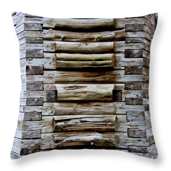 The Art Of Wood 2 Throw Pillow by Randall Weidner