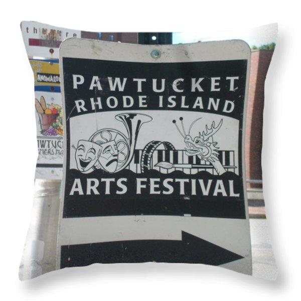 The Arts Festival Throw Pillow by Jon D Gemma