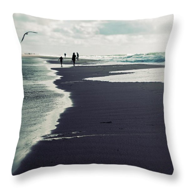 The Beach Throw Pillow by Joana Kruse