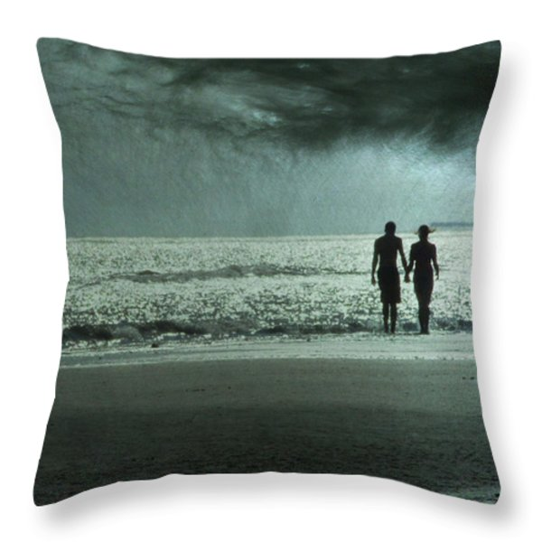 The Beachcombers Throw Pillow by Amy Tyler