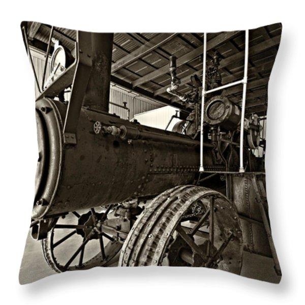 The Beast Sepia Throw Pillow by Steve Harrington