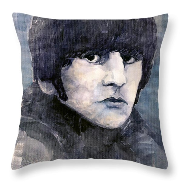 The Beatles Ringo Starr Throw Pillow by Yuriy  Shevchuk