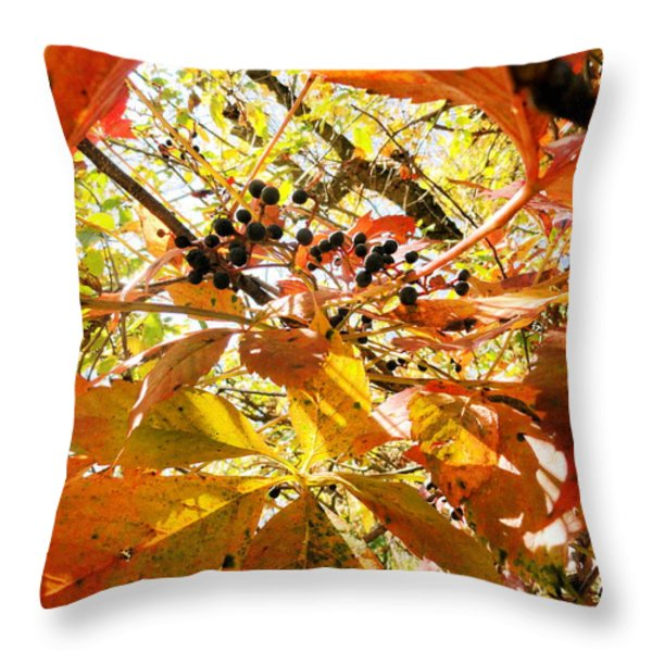 the beauty in dying Throw Pillow by Trish Hale