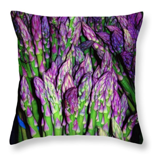 The Beauty Of Asparagus Throw Pillow by Judi Bagwell
