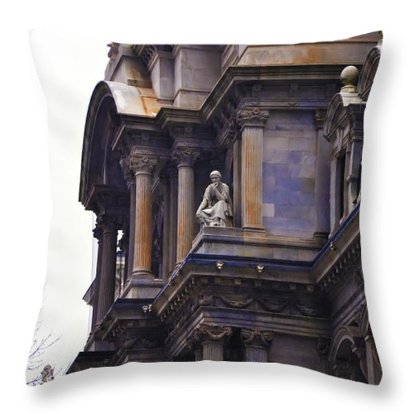 The Beauty of Philadelphia City Hall Throw Pillow by Bill Cannon
