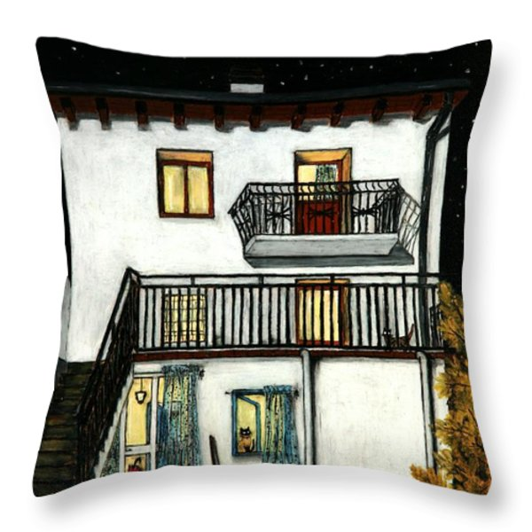 The Beginning Of Autunm In Muggianu's House Throw Pillow by Donatella Muggianu