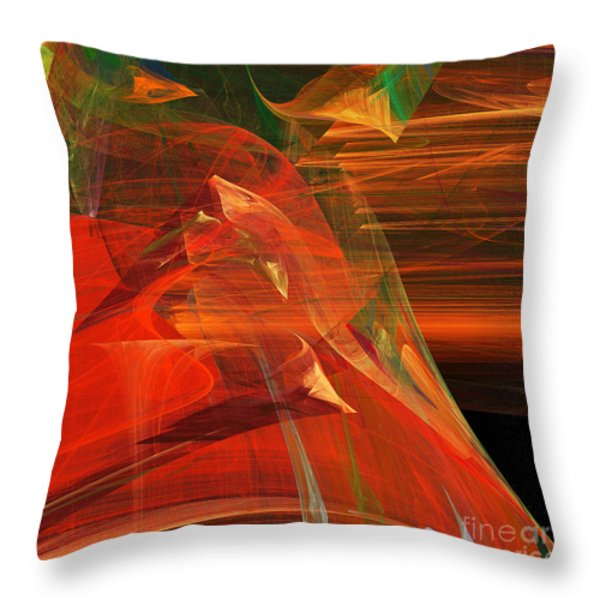 The Bird Whisperer . Square . A120423.693 Throw Pillow by Wingsdomain Art and Photography
