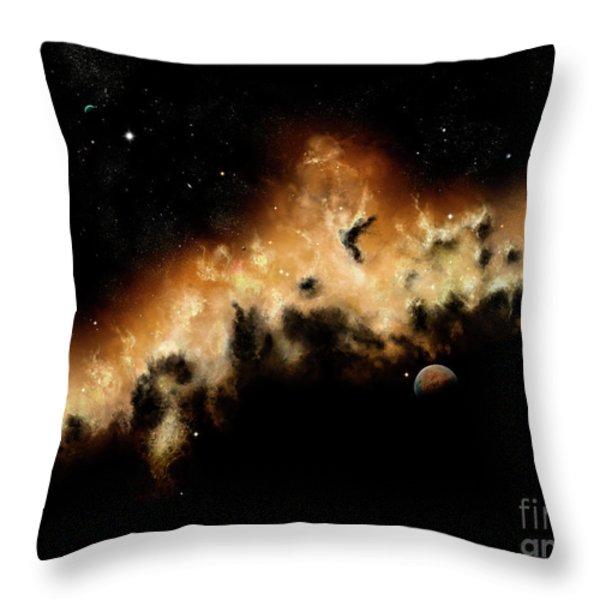 The Blast Wave Of A Nova Pulls Away Throw Pillow by Brian Christensen