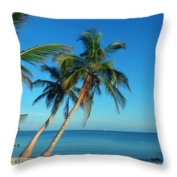 The Blue Lagoon Throw Pillow by Susanne Van Hulst