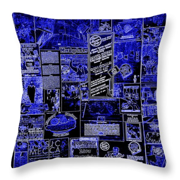 The Blues in Memphis Throw Pillow by Carol Groenen