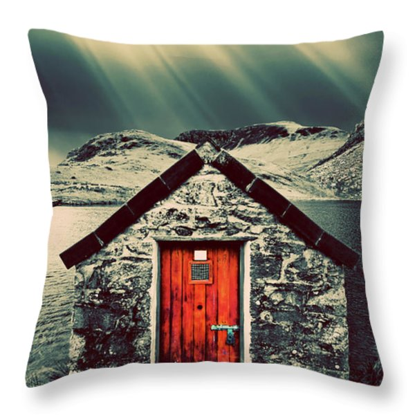 the boathouse Throw Pillow by Meirion Matthias