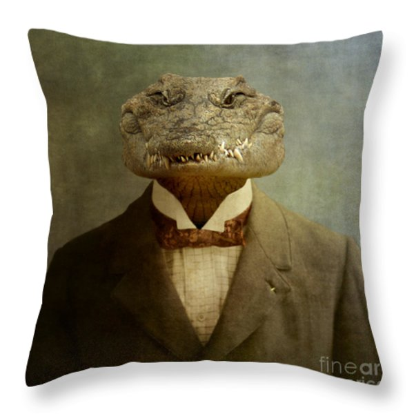 The Boss Throw Pillow by Martine Roch