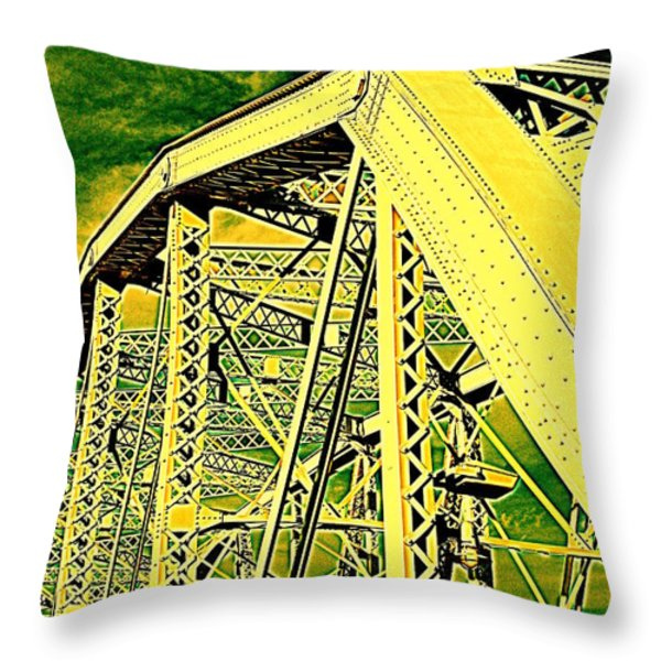 The Bridge to The Skies Throw Pillow by Susanne Van Hulst