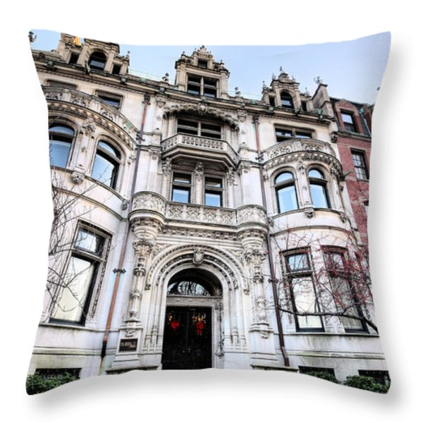 The Burrage House Throw Pillow by JC Findley