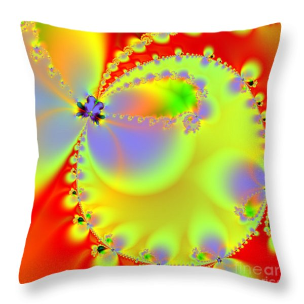 The Butterfly Effect . Summer . Square Throw Pillow by Wingsdomain Art and Photography