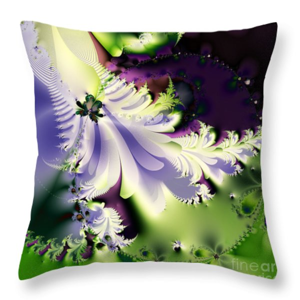 The Butterfly Effect . Version 2 . Square Throw Pillow by Wingsdomain Art and Photography