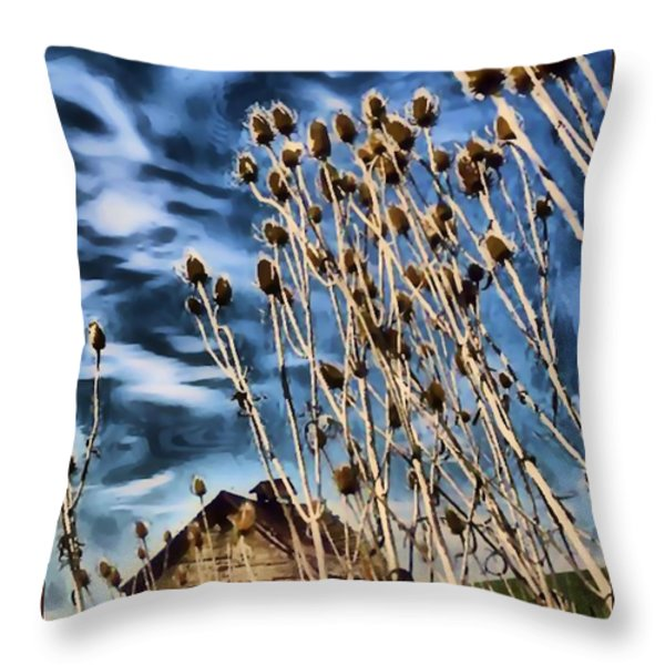 The Cabin Throw Pillow by Tisha McGee