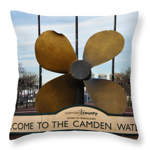 The Camden Waterfront Throw Pillow by Bill Cannon