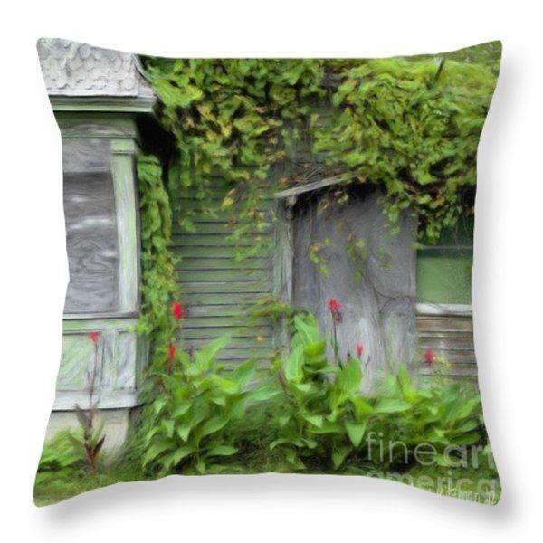 The Canna Farm Throw Pillow by Anne Kitzman