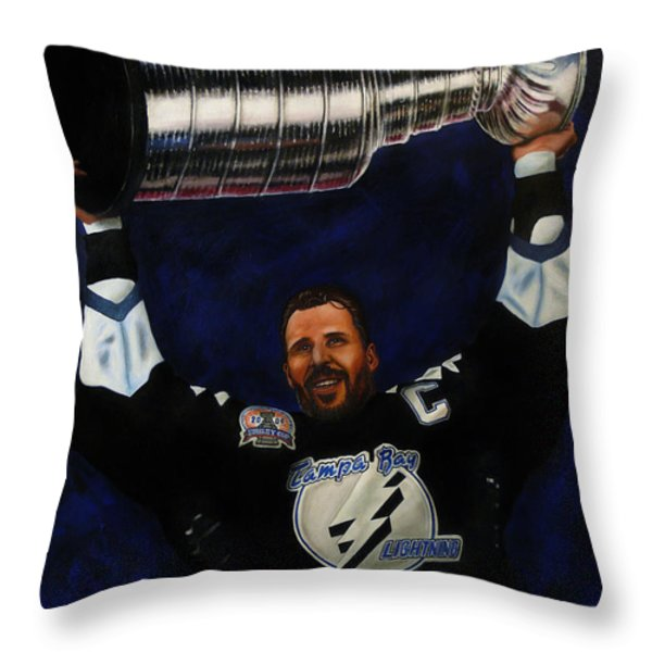 The Captain Throw Pillow by Marlon Huynh