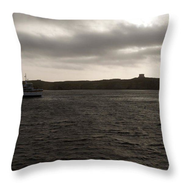 The Channel Throw Pillow by Focus  Fotos