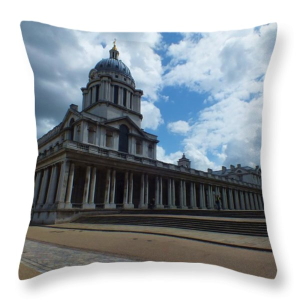 The Chapel at the Royal Naval College Throw Pillow by Anna Villarreal Garbis