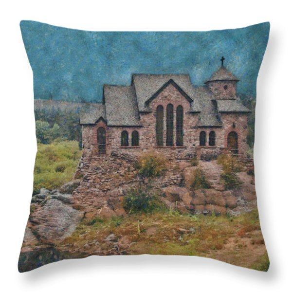 The Chapel Throw Pillow by Ernie Echols