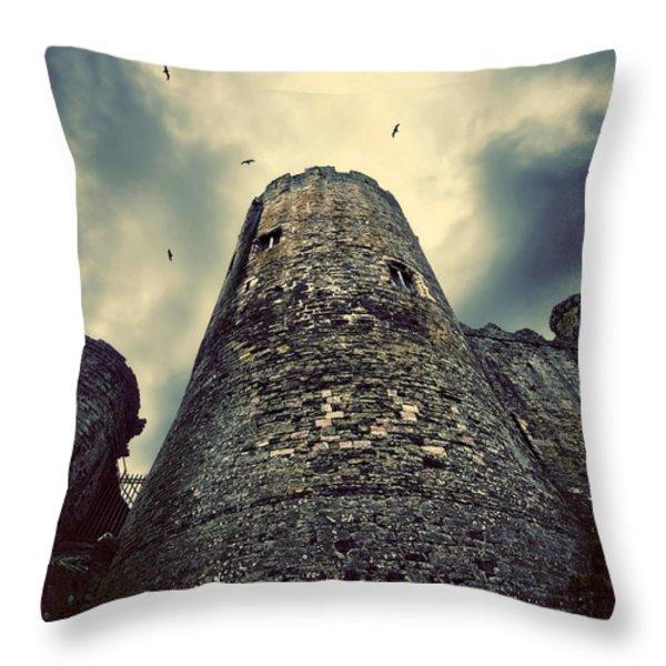 The Chapel Tower Throw Pillow by Meirion Matthias